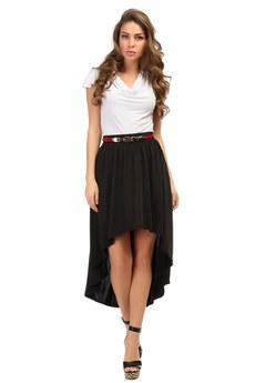 Черная шелковая юбка Mondigo