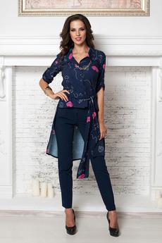 Блузка со шлейфом и поясом Angela Ricci со скидкой