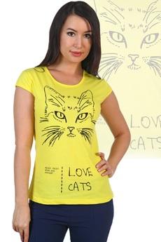 Желтая футболка Эля из хлопка Натали