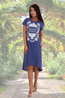 Синее домашнее платье Натали