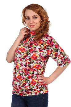 Цветастая блузка  ElenaTex