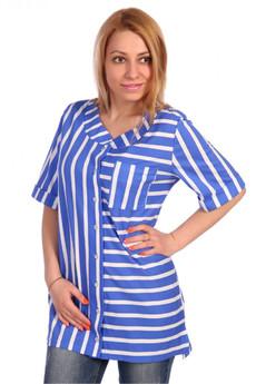 Женская блузка в голубую полоску ElenaTex