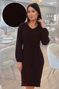 Бордовое платье с люрексом Натали