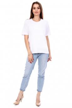 Простая белая футболка Кетлен